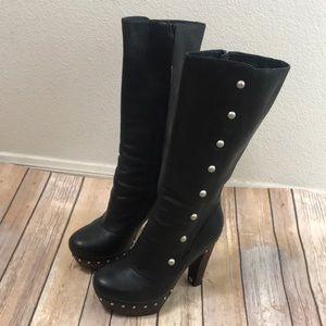 UGG Shoes - UGG Cosima thigh high leather studded boots